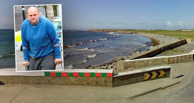 The car was found submerged off pier in Quilty, Co Clare (Inset: Ray McDonagh)