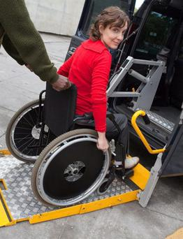 The cost of wheelchair accessible vehicles is very high.