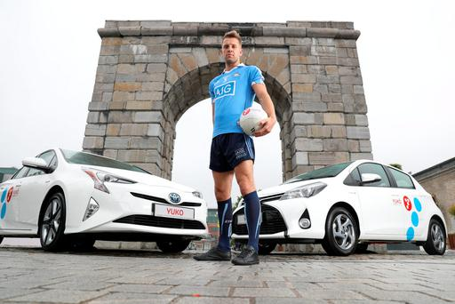 Dublin footballer Jonny Cooper at the YUKO Toyota Car Club launch.