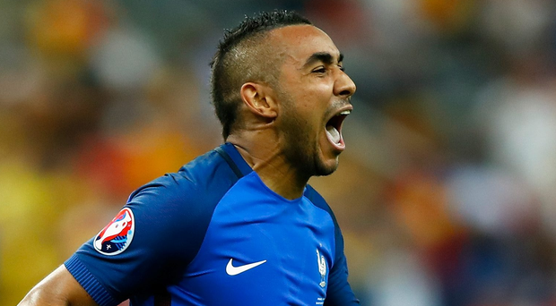 It was not so much a winning goal as a firework, writing Payet's name in lights far above the Stade de France. Payet himself left the pitch in tears, overcome with emotion. Photo: Clive Rose/Getty Images