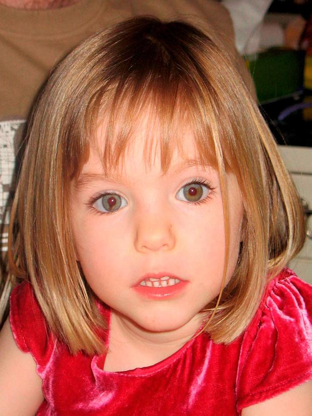 Madeleine McCann. Photo credit: PA Wire
