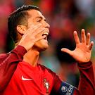 Portugal's forward Cristiano Ronaldo shows his frustration during the Euro 2016 group F football match between Portugal and Iceland at the Geoffroy-Guichard stadium in Saint-Etienne. Photo: AFP/Getty Images