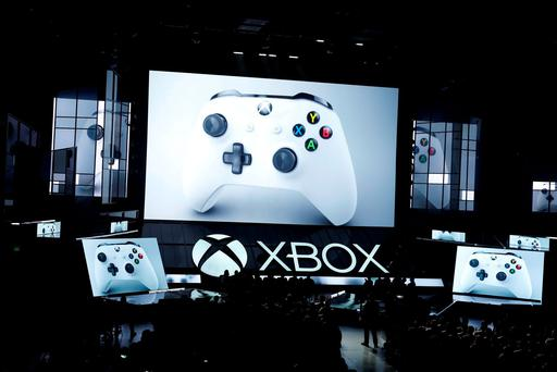 Microsoft displays the controller for the new Xbox One S console at the Xbox E3 2016 media briefing in Los Angeles