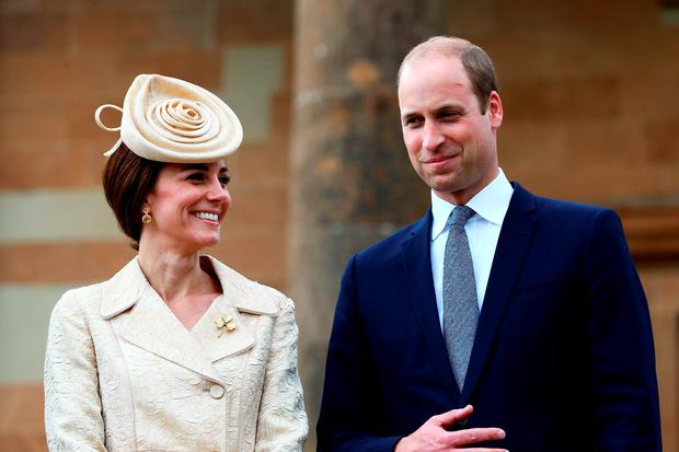 The Duke and Duchess of Cambridge attend the Secretary of State for Northern Ireland Theresa Villiers' Garden Party at the royal residence at Hillsborough Castle, Co Down