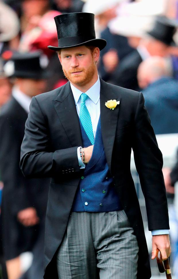 Prince Harry arrives in the parade ring at Royal Ascot 2016 at Ascot Racecourse on June 14, 2016 in Ascot, England. (Photo by Chris Jackson/Getty Images)