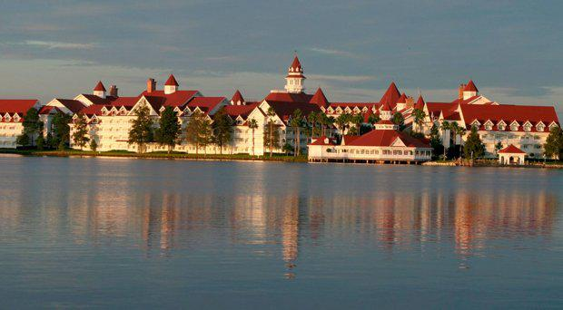 Early morning view of the Grand Floridian Resort and Spa located in the Magic Kingdom at Disney World in Orlando, Florida on September 28, 2003, near where an alligator dragged a small boy into a lagoon. File picture