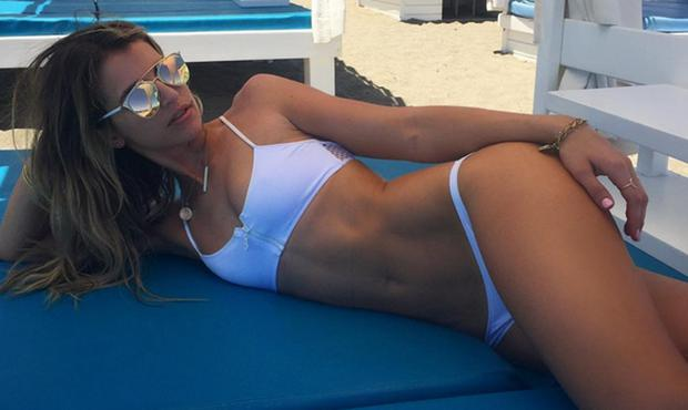 Vogue Williams in a bikini on holiday. Picture: Instagram