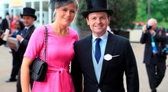 Declan Donnelly (right) and wife Ali Astall before day two of Royal Ascot 2016, at Ascot Racecourse