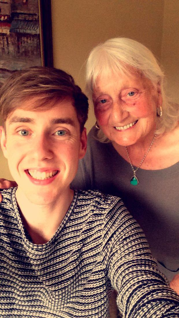 Ben John and his 'Nan' (Photo: Twitter/BenJohn)