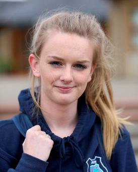Louise Lynch pictured following the Leaving Certificate history exam at Molroy College, Co Donegal. Photo: Brian McDaid