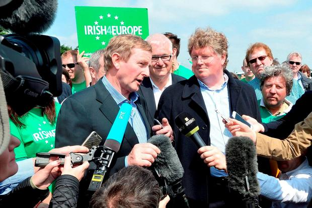'There are up to half a million Irish-born people in Britain who are entitled to vote; there are 1.2 million Irish voters north of the Border; and there are an estimated 140,000 British citizens living in Ireland who are entitled to vote. In a tight contest, that is a chunk of political trade well worth bidding for.' Photo: John Stillwell/PA Wire