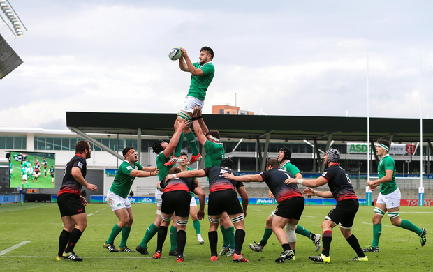 Greg Jones catches the lineout Photo by Matt McNulty/Sportsfile