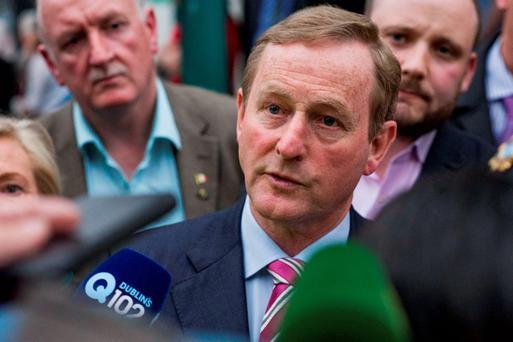 Taoiseach Enda Kenny meeting local representatives from North Inner City in Seville Place.