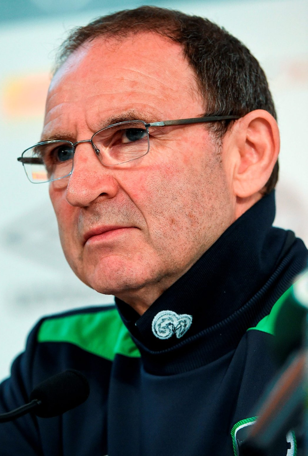Republic of Ireland manager Martin O'Neill during a press conference at Versailles near Paris, France. Photo: David Maher/Sportsfile