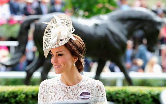 Catherine, Duchess of Cambridge attends the second day of Royal Ascot at Ascot Racecourse on June 15, 2016 in Ascot, England. (Photo by Chris Jackson/Getty Images)