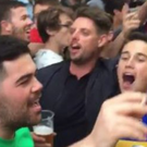 Keith Duffy joins Irish supporters on the streets of La Rochelle for a Boyzone sing-a-long. Photo: Stephen McCarthy / Twitter