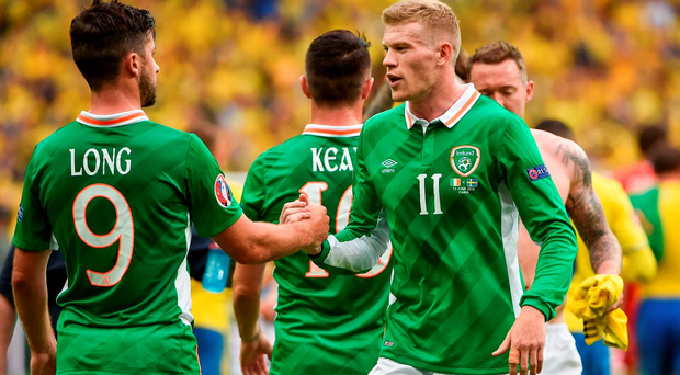 Shane Long, left, and James McClean