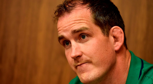 Devin Toner of Ireland during a press conference in the Sandton Sun Hotel