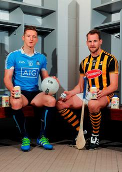 Dublin footballer Paul Flynn, left, and Kilkenny hurler Jackie Tyrrell