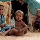Refugee children at a camp near the Malian border