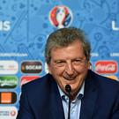 LENS, FRANCE - JUNE 15: In this handout image provided by UEFA, England manager Roy Hodgson faces the media during a press conference on June 15, 2016 in Lens, France. (Photo by Handout/UEFA via Getty Images)