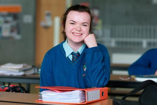 Leaving Certificate Student Naoibh McSharry from Colaiste Ailligh, Co. Donegal. Photo Brian McDaid