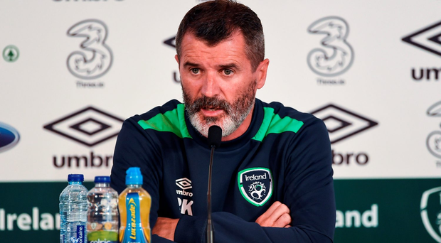 Ireland assistant manager Roy Keane during a press conference at Versailles in Paris