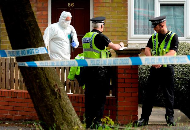A police forensic officer takes part in a a search of a house suspected of being connected to the murder of Labour MP Jo Cox in Birstall, northern England Getty Images