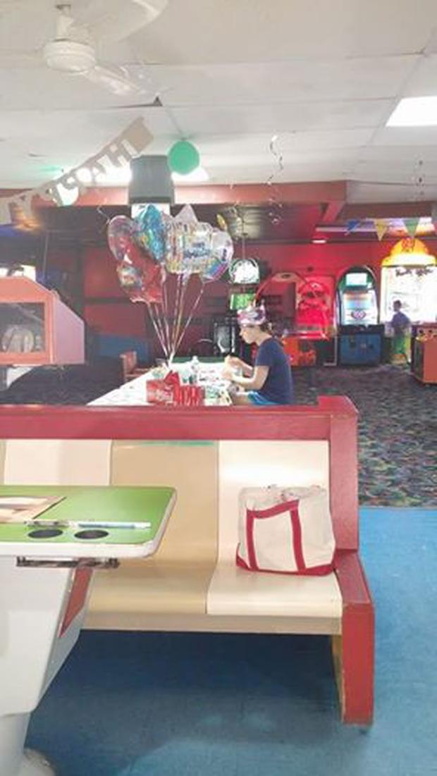 Hallee Sorenson's birthday party last year when nobody showed up