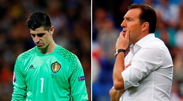 Thibaut Courtois and Marc Wilmots have suffered a falling out, according to reports