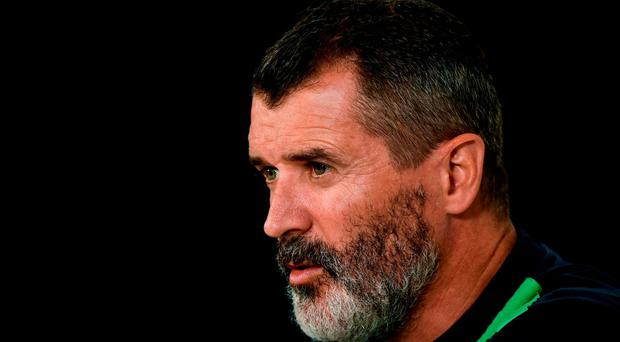 Republic of Ireland assistant manager Roy Keane during a press conference at Versailles in Paris, France. Photo by David Maher/Sportsfile