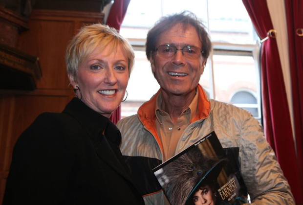 Cliff Richard and Majella O'Donnell at the opening of The Importance of Being Earnest, at the Gaiety Theatre, Dublin in 2010.