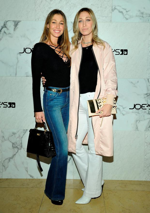 (L-R) Marielle Hadid and Alana Hadid attend Joe's Jeans and Bella Hadid celebration for the launch of the 2016 Joe's Jeans campaign at Sunset Tower Hotel on March 17, 2016 in West Hollywood, California. (Photo by John Sciulli/Getty Images for Joe's Jeans)