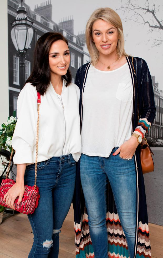 Pippa O'Connor & Niamh Doherty pictured at the Jo Malone London 'Basil & Neroli' launch in the Morrison Hotel Dublin. Photo: Anthony Woods