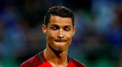 Portugal's Cristiano Ronaldo wasn't happy at full-time