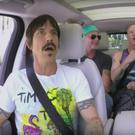 James Corden with the Red Hot Chilli Peppers on Carpool Karaoke