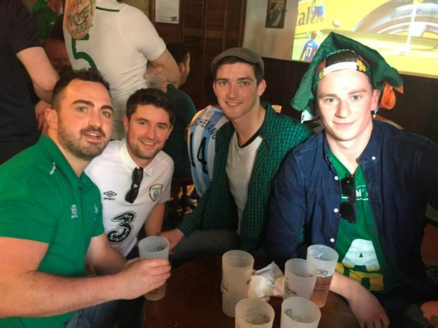 Enda Kivlehan, Hugh Byrne, Conor McGinley and Philip Murphy are still hunting for tickets for the game