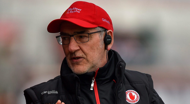 Mickey Harte is in the process of building a third team as Tyrone manager. Photo: Sportsfile