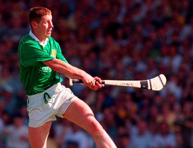Ciaran Carey hits Limerick's winning point back in 1996. Photo: Sportsfile