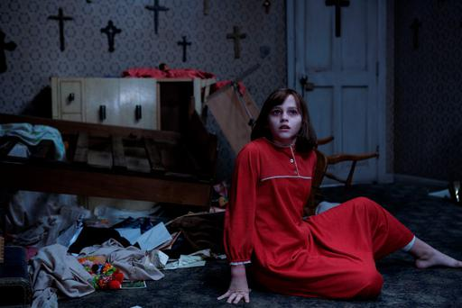 Madison Wolfe as Janet in the horror sequel Conjuring 2.