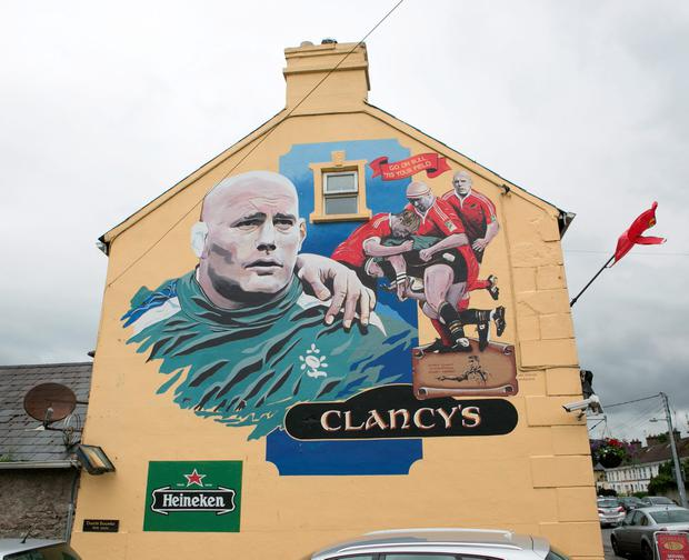The mural tribute to John Hayes. Picture Credit Brian Gavin