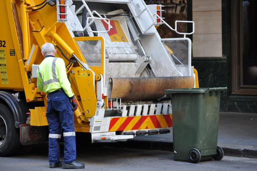 Inspectors from the National Standards Authority of Ireland will mount on-the-spot inspections of 750 bin trucks from next month after the pay-by-weight bin charging system is introduced. Stock Image