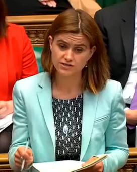 MP Jo Cox speaking in the House of Commons. Photo: AFP/Getty