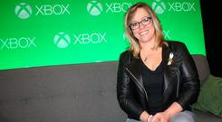 Shannon Loftis, head of publishing at Microsoft Studios, interviewed in Los Angeles after the Xbox E3 press conference