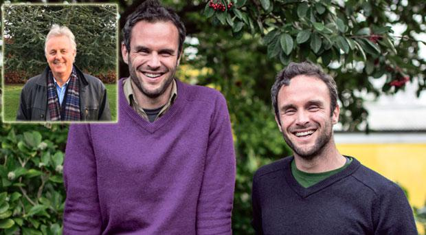 The pair helped their dad Donal (inset) to slim down