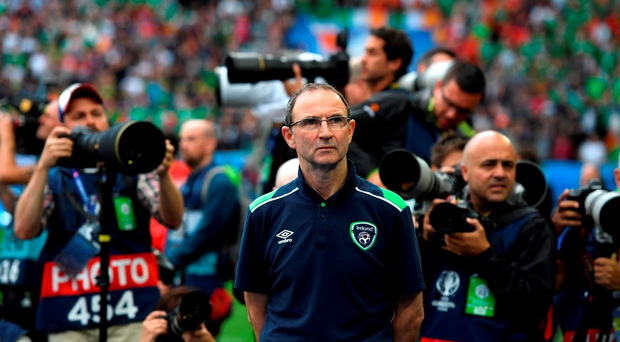 18 June 2016; Republic of Ireland manager Martin O'Neill prior to the UEFA Euro 2016 Group E match between Belgium and Republic of Ireland at Nouveau Stade de Bordeaux in Bordeaux, France. Photo by Stephen McCarthy/Sportsfile