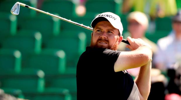 Shane Lowry hits his tee shot on the 16th hole during the continuation of the second round of the U.S. Open golf tournament at Oakmont Country Club. Credit: John David Mercer-USA TODAY Sports