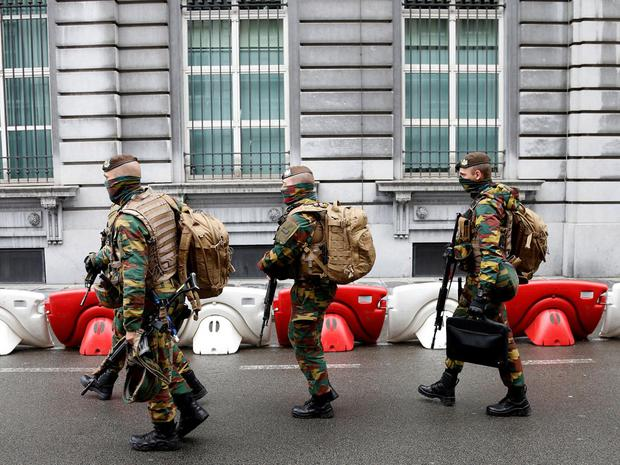 Forty houses were among properties searched in raids across Belgium. Reuters