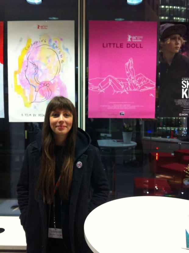 Writer and director Kate Dolan at the Berlinale Film Festival.
