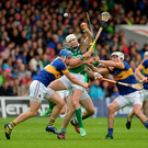Séamus Hickey in action against John McGrath, left, and Patrick Maher Photo by Daire Brennan/Sportsfile